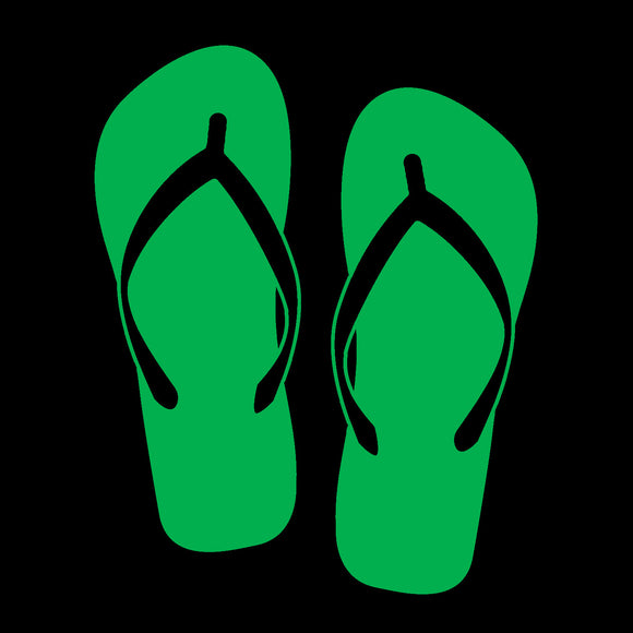 Flip Flops Green Window Decal