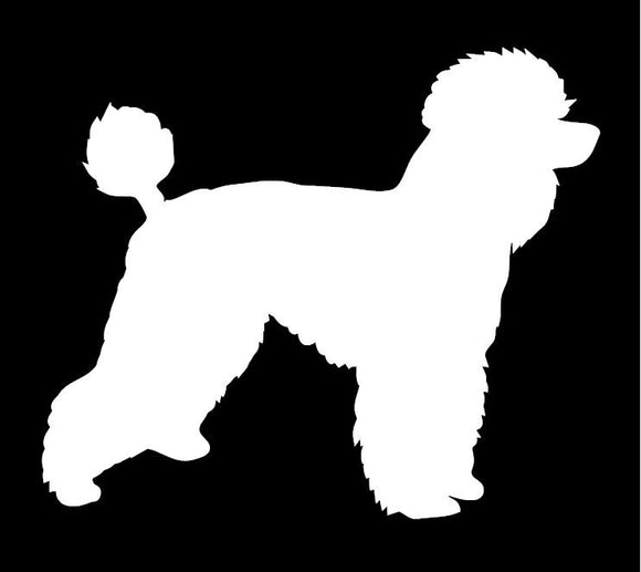 Poodle Window Decal
