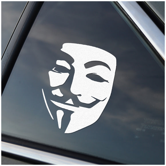 Anonymous Guy Fawkes Mask Window Decal