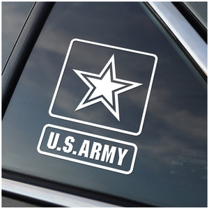US Army White or Yellow Window Decal