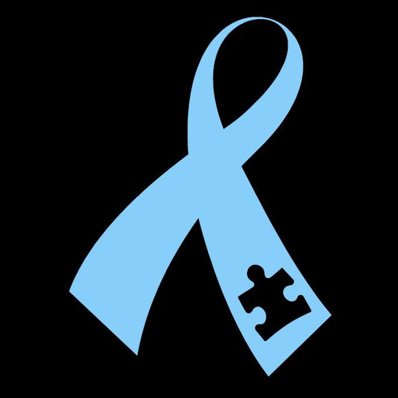 Autism Awareness Window Sticker Light Blue