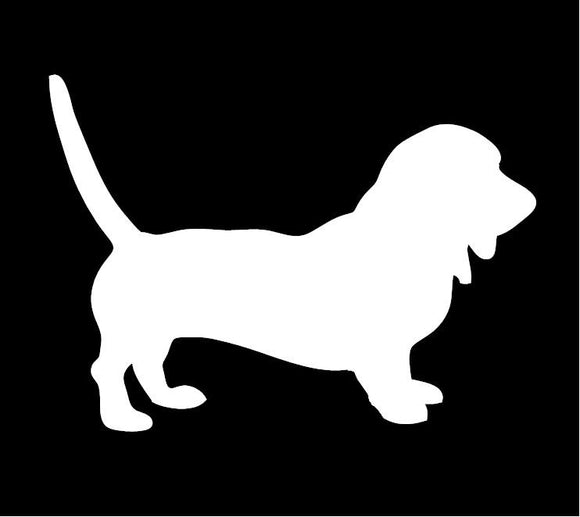 Bassett Hound Window Decal