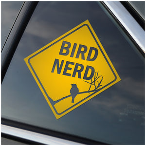 Bird Nerd Window Decal Sticker