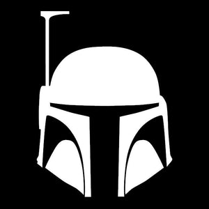 Bob Fett Helmet Star Wars Inspired Window Sticker Decal