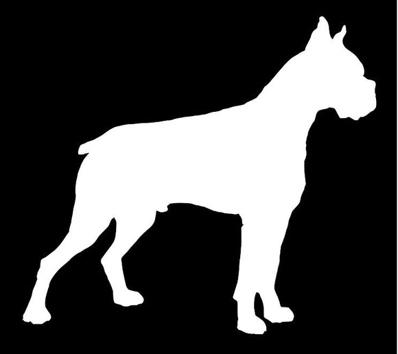 Boxer Window Decal