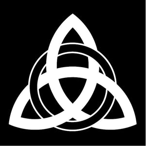 Celtic Trinity Knot White Window Decal