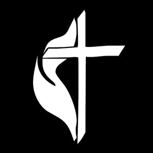 United Methodist Cross Vinyl Decal