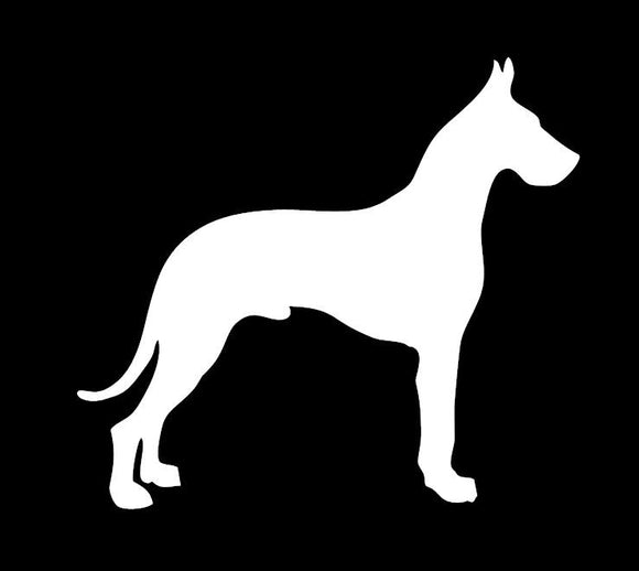 Great Dane Vinyl Window Decal