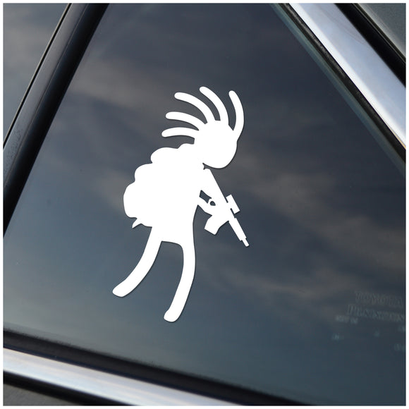 Kokopelli with AR15 Vinyl Decal