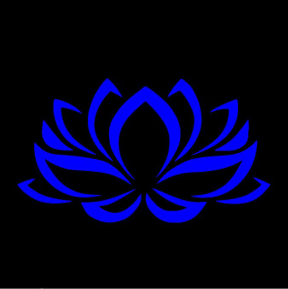 Lotus Flower Blue Window Decal