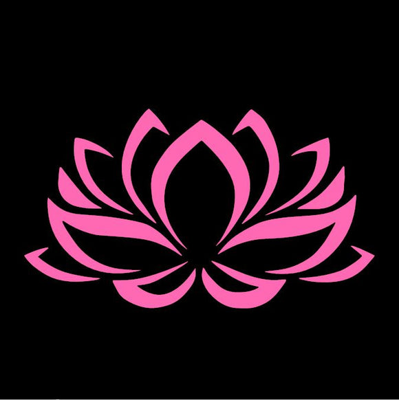 Lotus Flower Pink Window Decal
