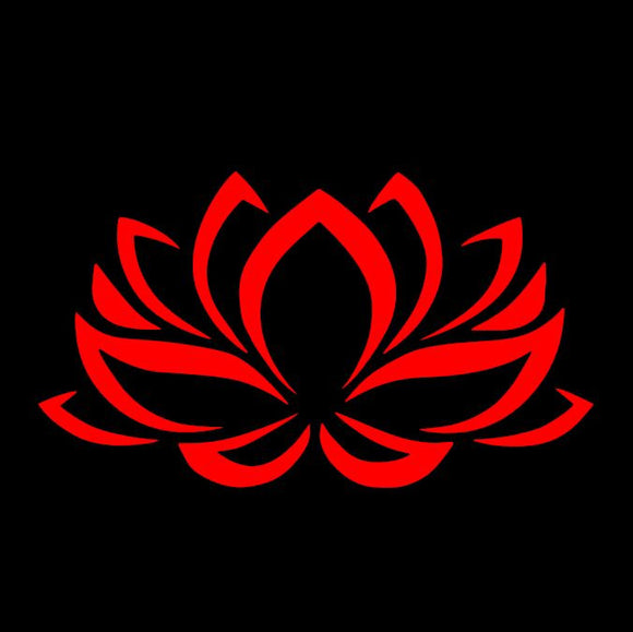 Lotus Flower Red Window Decal