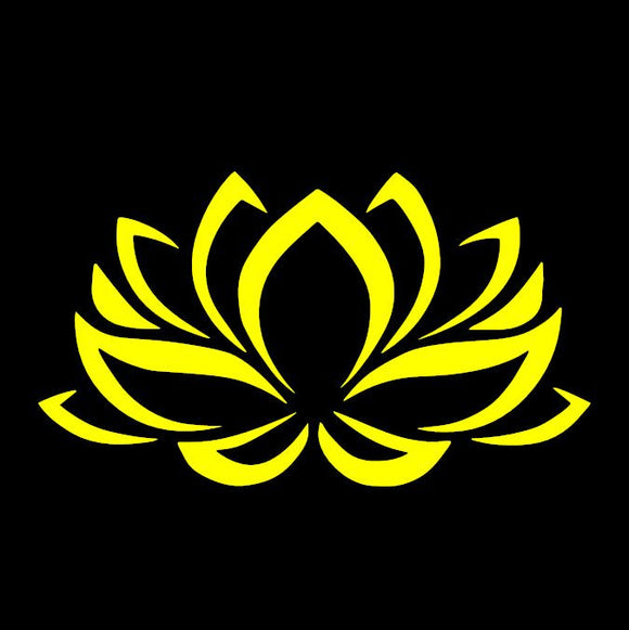 Lotus Flower Yellow Window Decal