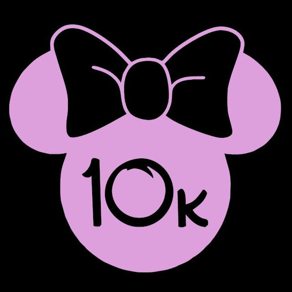Run Disney Minnie Mouse 10k Window Decal