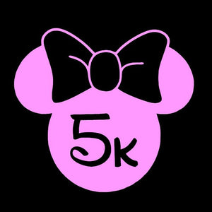 Run Disney Minnie Mouse 5k Window Decal