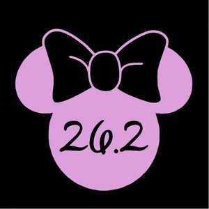 Run Disney Minnie Mouse 26.2k Window Decal