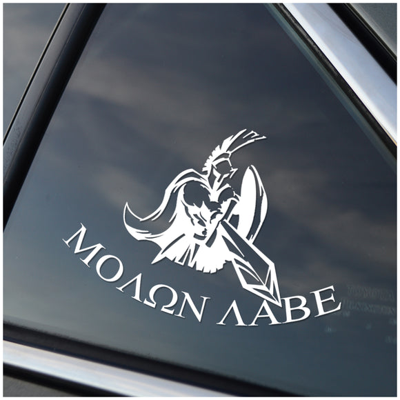 Molon Labe Vinyl Car Decal