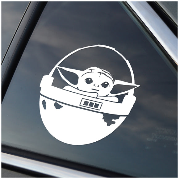 Baby Yoda Car Decal