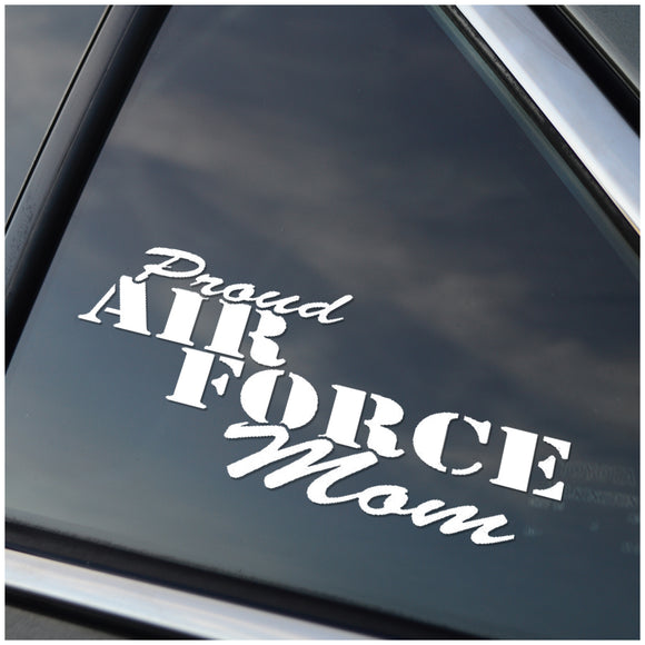 Proud Air Force Mom Vinyl Decal