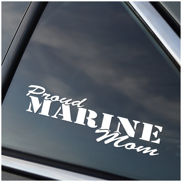Proud Marine Mom Vinyl Decal