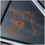 Grumpy Cat Halloween Cat - Cat Lover - Car Window Decal