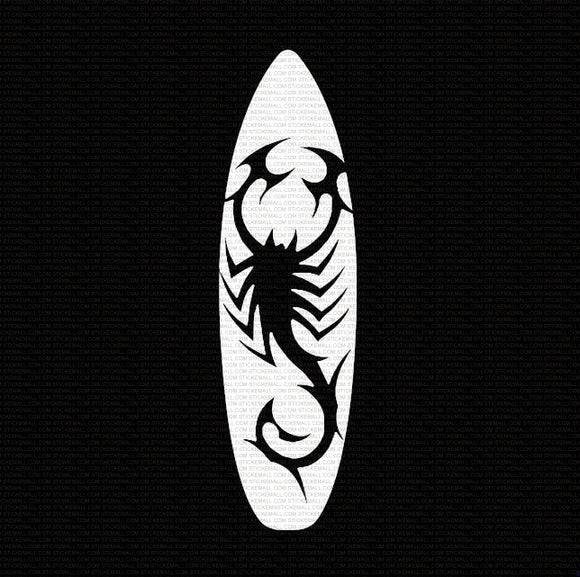 Surfboard Scorpion Window Sticker/Decal
