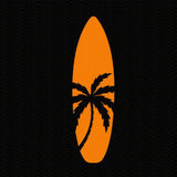Surfboard Palm Tree Window Sticker/Decal