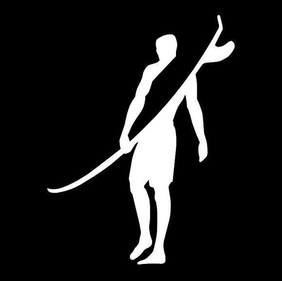 Surfer Guy Window Sticker / Decal