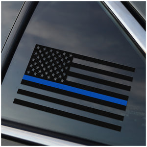 Thin Blue Line Vinyl Decal