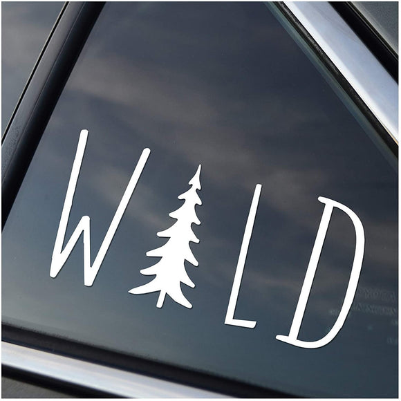 WILD - Window Sticker