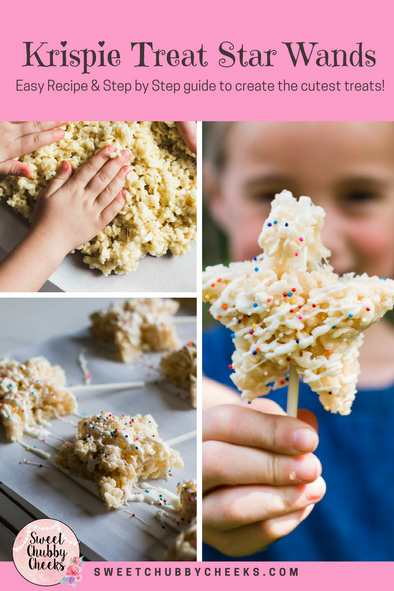 Krispy Treat Star Wands - Recipe and Step by Step directions