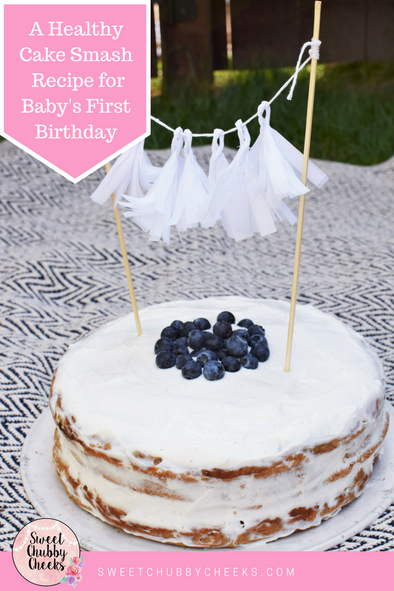 A Healthy Cake Smash Recipe for Baby's First Birthday!