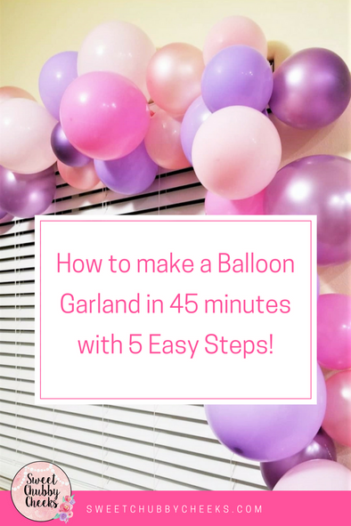 Balloon Garland Step by Step Tutorial