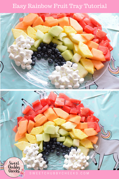 Easy Rainbow Fruit Tray Tutorial