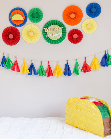 fiesta theme photo shoot or decorations for taco twosday photo session with banner by sweet chubby cheeks