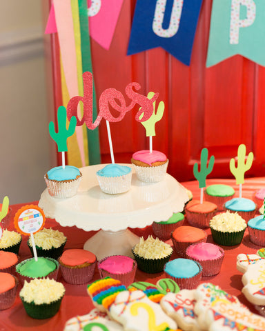 dos cake topper for fiesta birthday or taco twosday birthday party decorations by sweet chubby cheeks