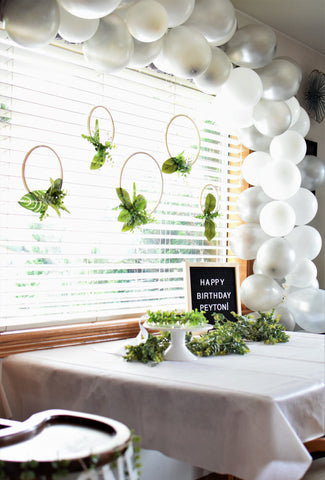 eucalyptus and greenery birthday party by sweet chubby cheeks