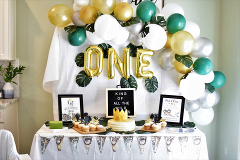 where the wild ones are wild one first birthday party decorations sold by sweet chubby cheeks