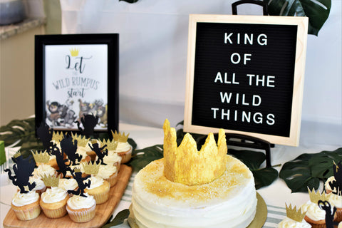 where the wild things are first birthday party ideas for a wild one theme by sweet chubby cheeks