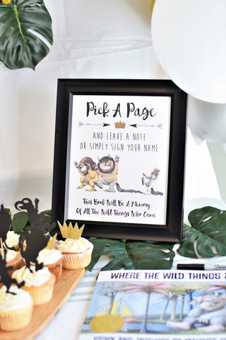where the wild things are birthday party decorations for first birthday party by sweet chubby cheeks