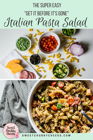 italian pasta salad recipe by sweet chubby cheeks