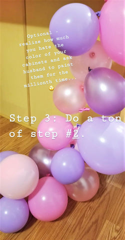 balloon garland tutorial by sweet chubby cheeks step 3