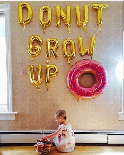 Donut Grow Up Balloon Set