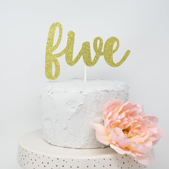 five cake topper made by sweet chubby cheeks