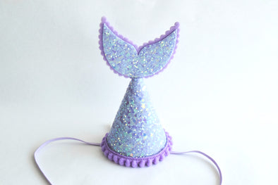 purple mermaid tail party hat