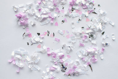Purple and Silver Confetti