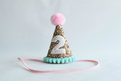 glitter birthday hat for 2 year old