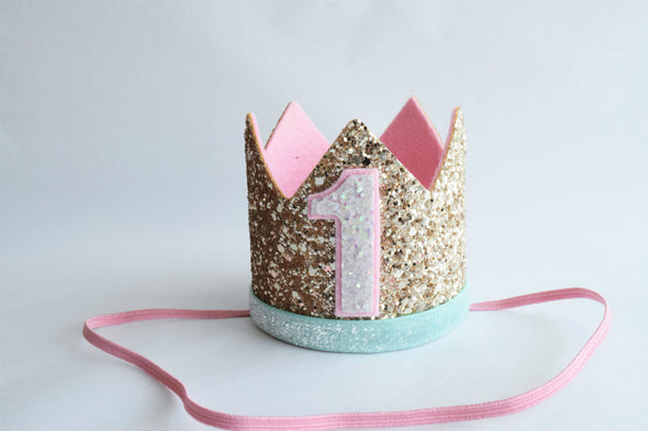 first birthday crown for girls