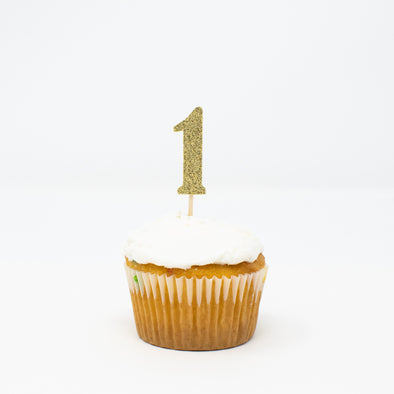 Number 1 Cupcake Toppers
