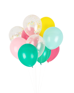 carnival confetti balloon set of 12 balloons sold by sweet chubby cheeks